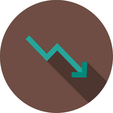 business trending: Trend, down, graph icon vector image. Can also be used for material design. Suitable for web apps, mobile apps and print media.