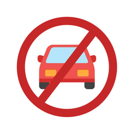 parking is prohibited: No, parking, sign icon vector image.Can also be used for housing. Suitable for mobile apps, web apps and print media. Illustration