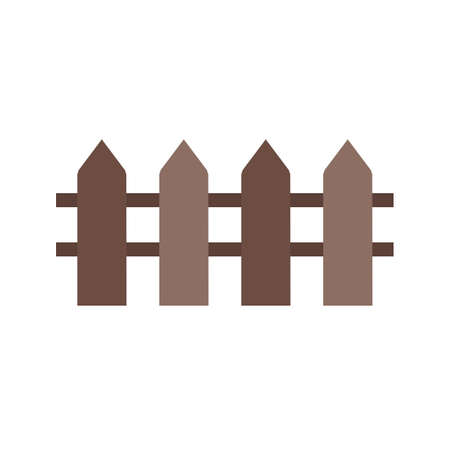 hedge: Fence, wooden, boundary icon vector image.Can also be used for housing. Suitable for mobile apps, web apps and print media.