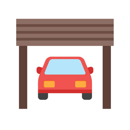 remote lock: Garage, parking, door icon vector image.Can also be used for housing. Suitable for mobile apps, web apps and print media. Illustration