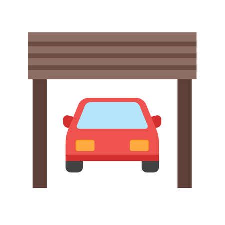 Garage, parking, deur pictogram vector image.Can ook worden gebruikt voor huisvesting. Geschikt voor mobiele apps, web apps en gedrukte media.