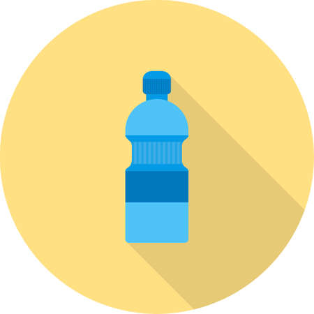 thirst: Bottle, water, drink icon vector image. Can also be used for hotel and restaurant. Suitable for web apps, mobile apps and print media. Illustration