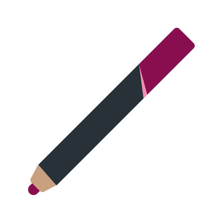 lip pencil: Pencil, lip, makeup icon vector image.Can also be used for makeup and accessories. Suitable for web apps, mobile apps and print media.