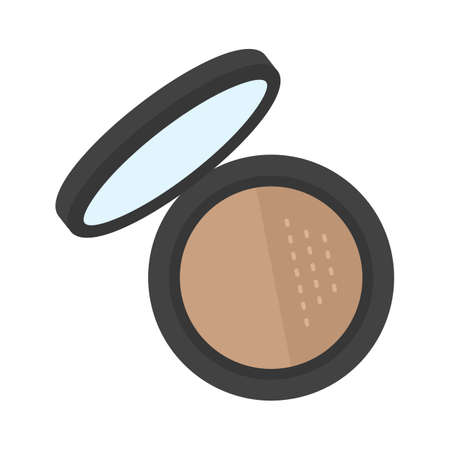 mobile accessories: Makeup, foundation, shades icon vector image. Can also be used for makeup and accessories. Suitable for web apps, mobile apps and print media.