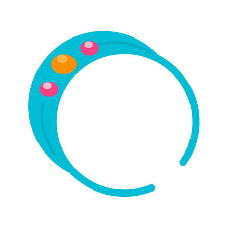 wristband: Bracelet, rubber, wrist icon vector image. Can also be used for makeup and accessories. Suitable for use on mobile apps, web apps and print media.