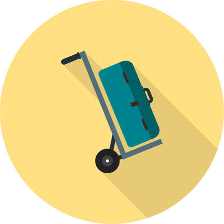 duffle: Bag, luggage, travel icon vector image. Can also be used for hotel and restaurant. Suitable for web apps, mobile apps and print media. Illustration
