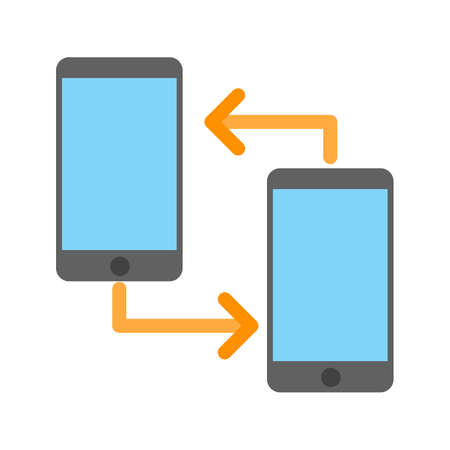 mobile communication: Internet, connection, mobile icon vector image. Can also be used for IT and communication . Suitable for use on web apps, mobile apps and print media.
