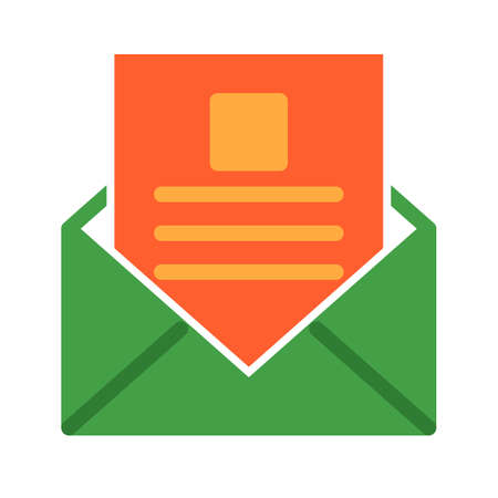 Reading, email, inbox icon vector image. Can also be used for IT and communication. Suitable for use on web apps, mobile apps and print media. Illustration