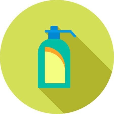lavamanos: Jab�n, lavado de manos, icono de la mano del vector image.Can tambi�n se puede utilizar para el hotel y restaurante. Adecuado para aplicaciones m�viles, aplicaciones web y medios impresos. Vectores
