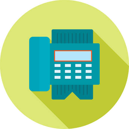 reciept: Fax machine, reciept, telephone, icon vector image.Can also be used for hotel and restaurant. Suitable for web apps, mobile apps and print media.