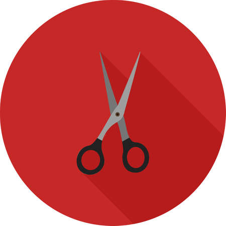 trimmer: Scissors, open, hair icon vector image.Can also be used for barbers tools. Suitable for mobile apps, web apps and print media.