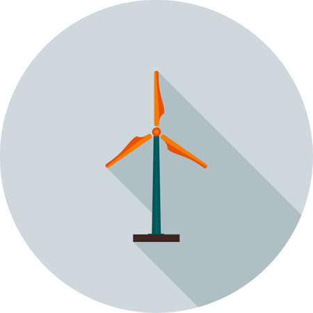 windfarms: Windmill, wind, farm icon vector image.Can also be used for ecology. Suitable for mobile apps, web apps and print media.