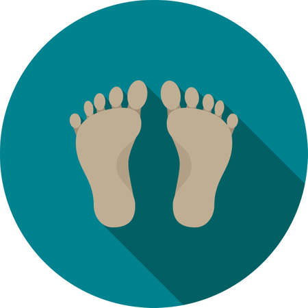 body image: Feet, nail, body icon vector image. Can also be used for ecology. Suitable for use on mobile apps, web apps and print media.