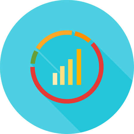 estimating: Market, analysis, search icon vector image. Can also be used for seo and development services. Suitable for use on web apps, mobile apps and print media.
