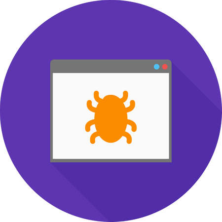 crawler: Browser, crawler, search icon vector image. Can also be used for seo and development services. Suitable for use on web apps, mobile apps and print media.