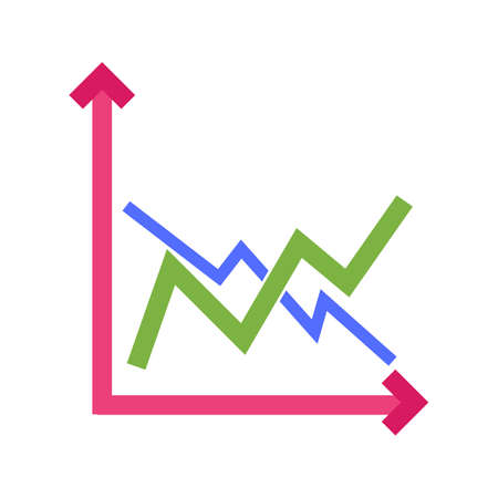Frequency, bar, graph icon vector image. Can also be used for business management. Suitable for use on web apps, mobile apps and print media. Vetores