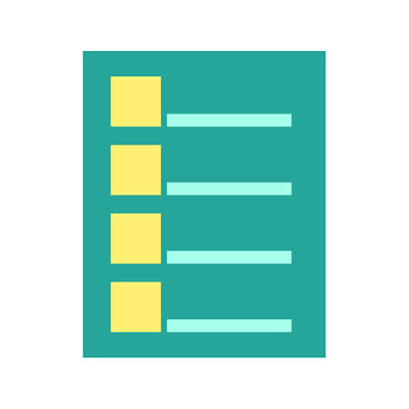 tasks: Checklist, tasks, draft icon vector image.Can also be used for business management. Suitable for mobile apps, web apps and print media. Illustration