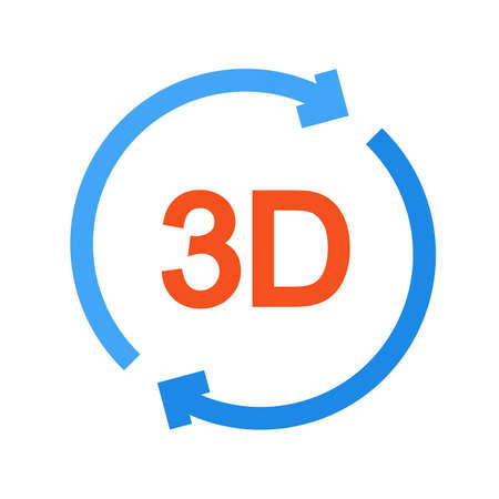 rotate icon: 3d, arrow, rotate icon vector image.Can also be used for material design. Suitable for mobile apps, web apps and print media. Illustration