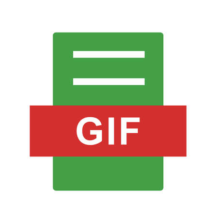 gif: GIF, website, navigation icon vector image. Can also be used for material design. Suitable for mobile apps, web apps and print media.