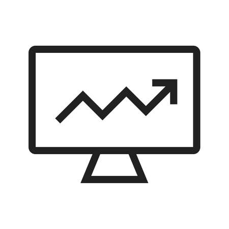 Market, analysis, search icon vector image. Can also be used for marketing. Suitable for use on web apps, mobile apps and print media. Illustration