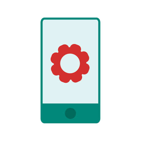 mobile apps: Phone, cell, setting icon vector image. Can also be used for material design. Suitable for use on web apps, mobile apps and print media Illustration