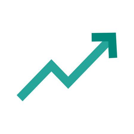 傾向グラフのアイコン ベクトル イメージを。材料設計のためにも使用できます。Web アプリ、携帯アプリ、印刷メディアに適しています。