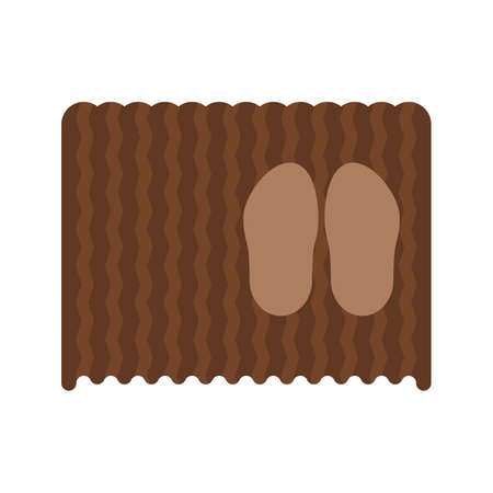 Mat, doormat, door icon vector image.Can also be used for hotel and restaurant. Suitable for mobile apps, web apps and print media. Illustration