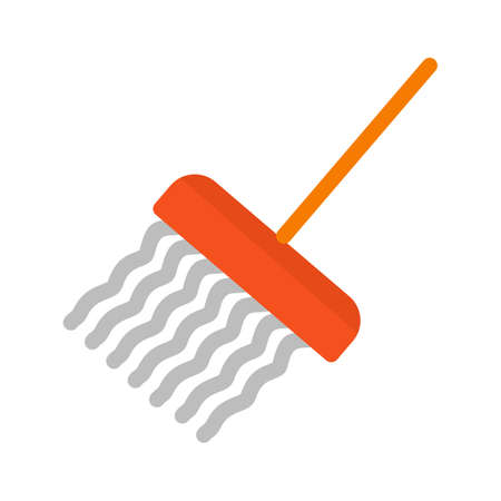 mop floor: Mop, cleaning, mopping icon vector image.Can also be used for hotel and restaurant. Suitable for mobile apps, web apps and print media. Illustration
