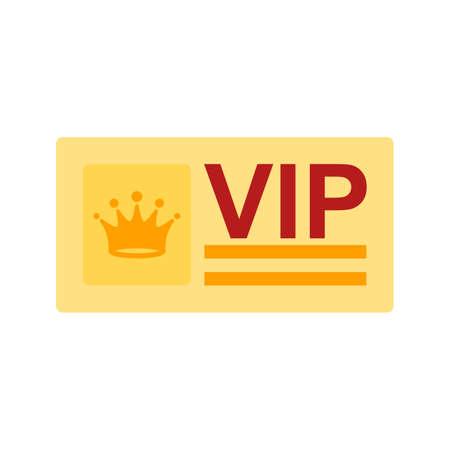 celebrities: Vip, card, hotel icon vector image. Can also be used for hotel and restaurant. Suitable for web apps, mobile apps and print media. Illustration