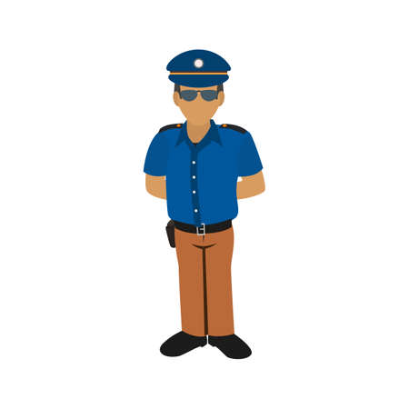 job security: Security, guard, hotel icon vector image. Can also be used for hotel and restaurant. Suitable for use on web apps, mobile apps and print media.
