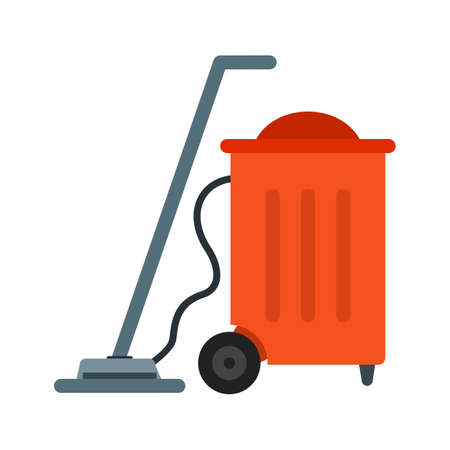 vac: Vaccum, cleaner, dust icon vector image.Can also be used for hotel and restaurant. Suitable for mobile apps, web apps and print media.
