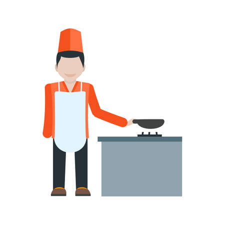 butler: Chef, service, restaurant icon vector image. Can also be used for hotel and restaurant. Suitable for use on web apps, mobile apps and print media.