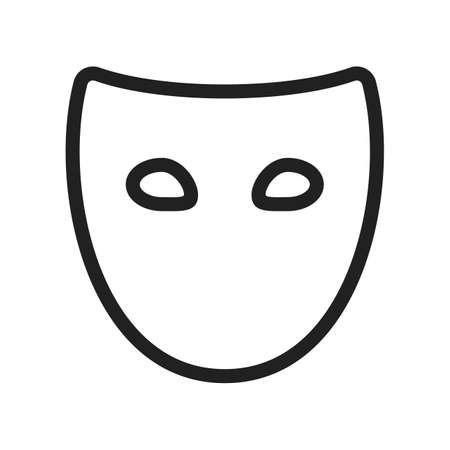 tragedies: Mask, secure, protection icon vector image.Can also be used for security. Suitable for mobile apps, web apps and print media.