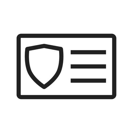 be the identity: Card, identity, access icon vector image.Can also be used for security. Suitable for mobile apps, web apps and print media.