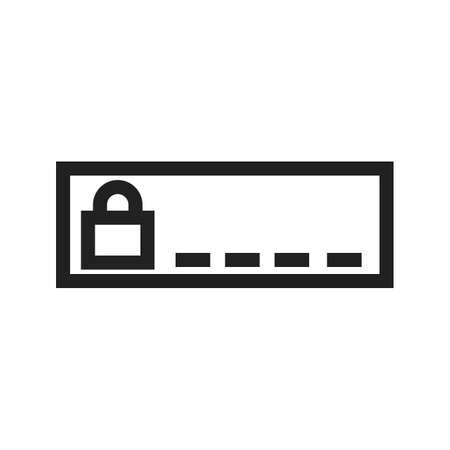 secret number: Security, enter, password icon vector image.Can also be used for security. Suitable for mobile apps, web apps and print media.