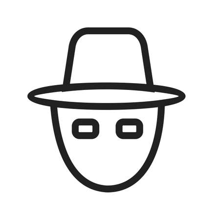robbery: Mask, robbery, hacker rain, protection icon vector image. Can also be used for security. Suitable for use on web apps, mobile apps and print media.
