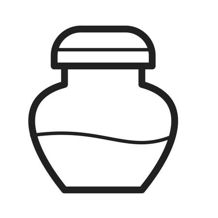 ink bottle: Ink, bottle, pen icon vector image. Can also be used for stationery. Suitable for web apps, mobile apps and print media.