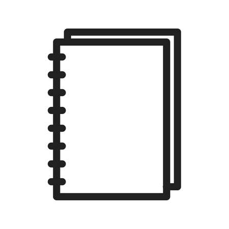 memorandum: Notebook, spiral, notepad icon vector image.Can also be used for stationery. Suitable for mobile apps, web apps and print media.