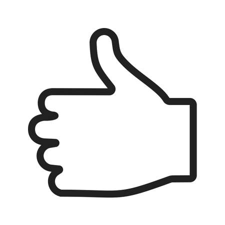 like hand: Like, hand, sign icon vector image. Can also be used for touch gestures. Suitable for use on web apps, mobile apps and print media.