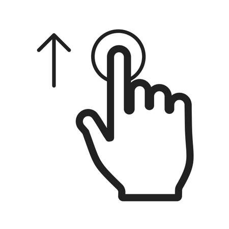 input device: Move, tap, click icon vector image.Can also be used for user touch gestures. Suitable for mobile apps, web apps and print media. Illustration