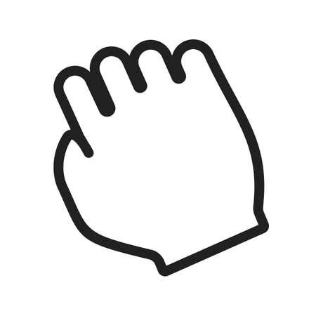 Puntatore, il mouse, trascinare l'icona vettore image.Can essere utilizzato anche per gesti tattili utente. Adatto per applicazioni mobili, applicazioni web e supporti di stampa.