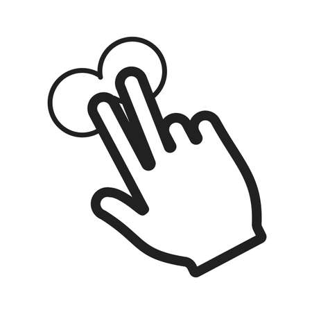 two point: Touch, fingers, device icon vector image.Can also be used for user touch gestures. Suitable for mobile apps, web apps and print media.