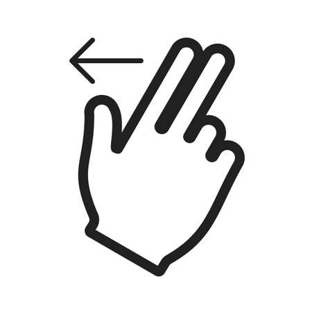 double tap: Cursor, fingers, left icon vector image.Can also be used for user touch gestures. Suitable for mobile apps, web apps and print media. Illustration