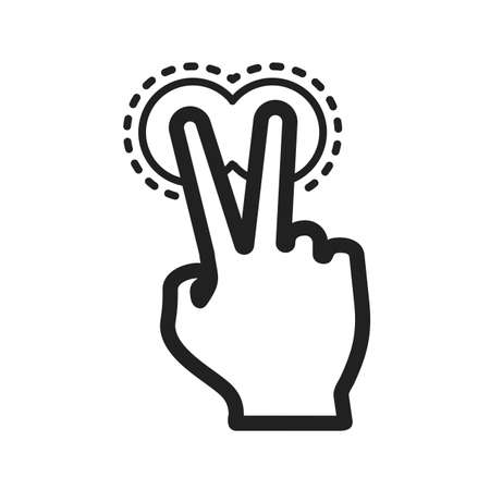 finger signals: Touch, fingers, device icon vector image.Can also be used for user touch gestures. Suitable for mobile apps, web apps and print media.