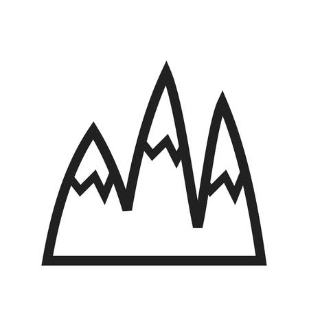 himalaya: Mountain, snow, winter icon vector image.Can also be used for winter. Suitable for mobile apps, web apps and print media. Illustration