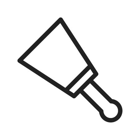 putty knives: Putty, white, paint icon vector image.Can also be used for tools. Suitable for mobile apps, web apps and print media. Illustration