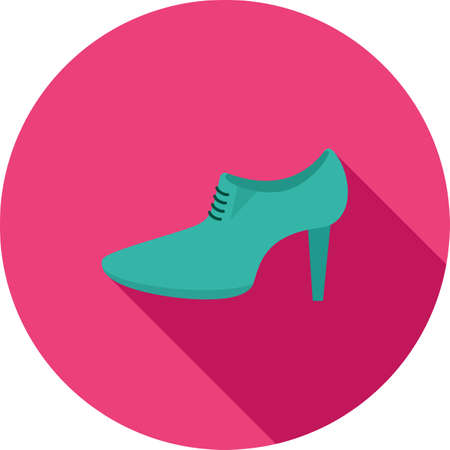 high heels shoes: High, heels, shoes icon vector image. Can also be used for clothes and fashion. Suitable for web apps, mobile apps and print media. Illustration