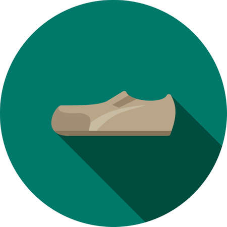 men's shoes: Casual, shoes, style icon vector image. Can also be used for clothes and fashion. Suitable for web apps, mobile apps and print media. Illustration