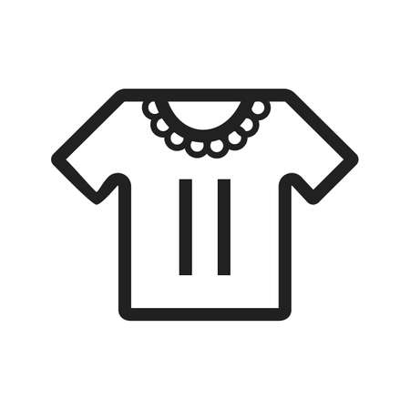 Baby, shirt, casual icon vector image. Can also be used for baby. Suitable for use on web apps, mobile apps and print media. Illustration