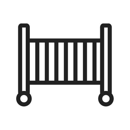 Baby, cot, sleeping icon vector image. Can also be used for baby. Suitable for web apps, mobile apps and print media.